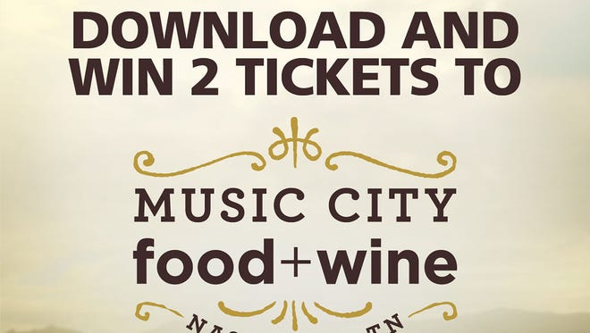 Download Things to Do Nashville for a chance to win tickets to Music City Food + Wine.