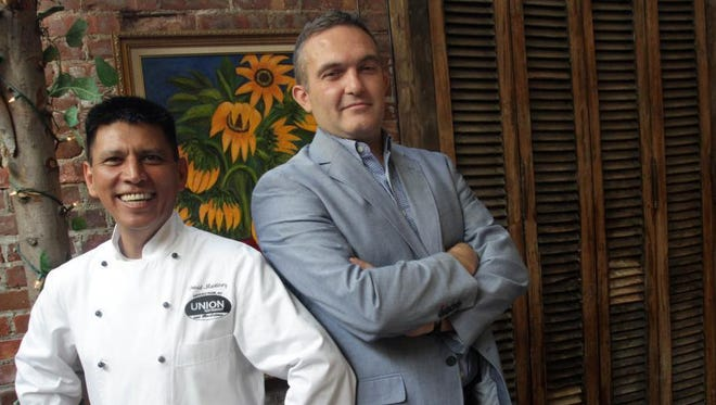 Chef Jose David Martinez, left, and Paulo Feteira at Union Restaurant and Bar Latino in Haverstraw in 2012.