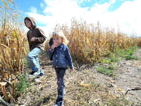 Tyler Mullins, 10, and his 4-year-old sister Martina,