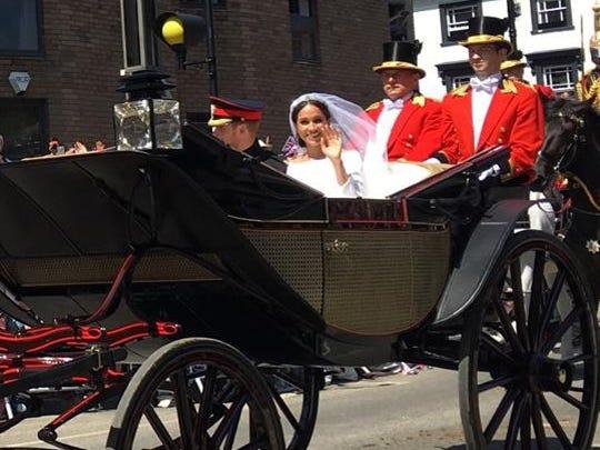 Liz Whittern captured a photo of the new Duke and Duchess