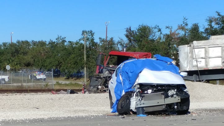 A fatal crash shut down westbound Alico Road at Gator