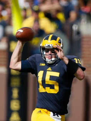 Michigan quarterback Jake Rudock