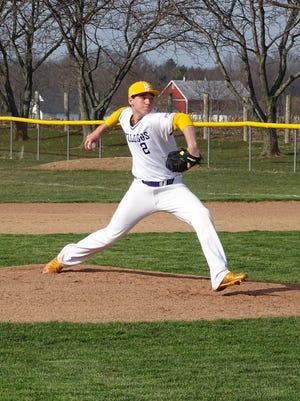 Bloom-Carroll senior Alan Meadows gets set to deliver a pitch against Teays Valley on Wednesday. The Bulldogs won 12-5.