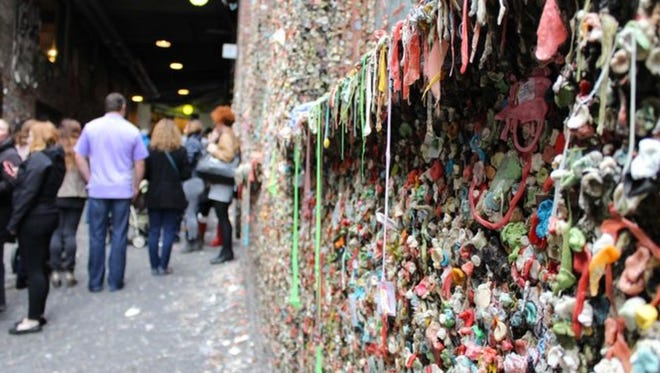Seattle's gum wall was cleaned for the first time in 20 years.