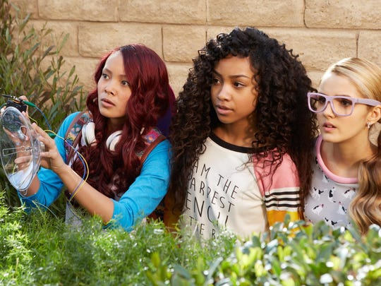 """Ysa Penarejo, Genneya Walton and Victoria Vida star in """"Project Mc2."""" The series about four clever schoolgirls recruited to join a spy organization is available for streaming on Netflix."""