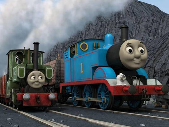 Thomas, right, and Percy will eventually get their work done, but not without creating disaster along the way.