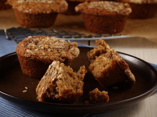 Muffins go retro with oat crumble topping