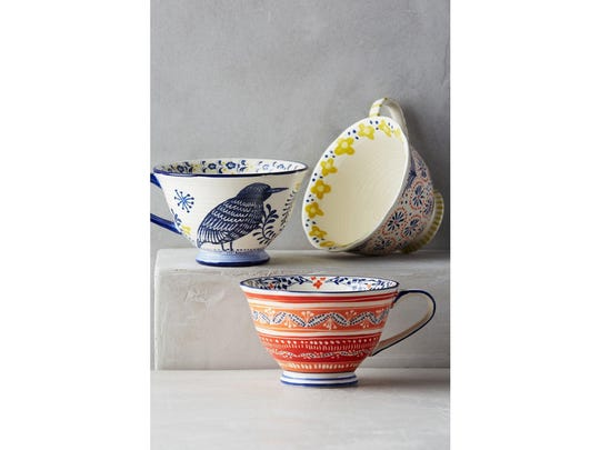 Once your host picks up one of these three mugs, he will be instantly transported to a magical land where mythical creatures from the pages of a Scandinavian folktale roam freely. $12 at anthropologie.com.