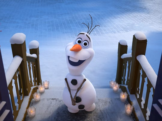 "Olaf in a scene from ""Olaf's Frozen Adventure."""