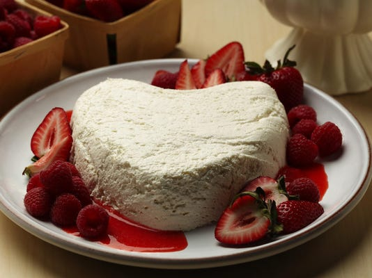 Heart-shaped dessert coeur a la creme a balm to the melancholy