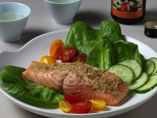 Full steam ahead: Sake and salmon delicately flavor salmon fillets