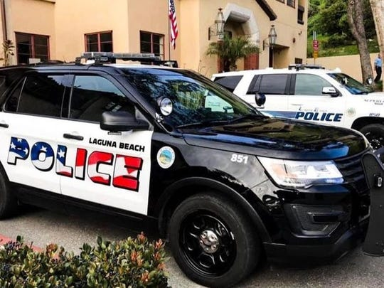 Newly decorated police SUV patrol vehicles in Laguna Beach, Calif., are dividing the small coastal city. Some people in Laguna Beach feel the flag design is too aggressive while others are astonished that anyone would object.