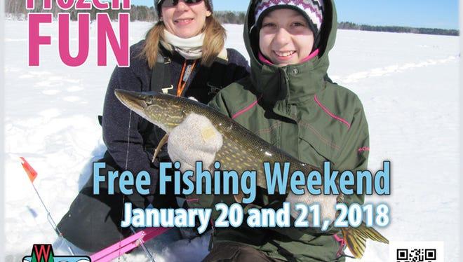 Wisconsin's winterFree Fishing Weekendis set for Jan. 20-21.