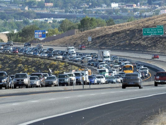 Northbound 395 closed at Lemmon Valley after rollover crash