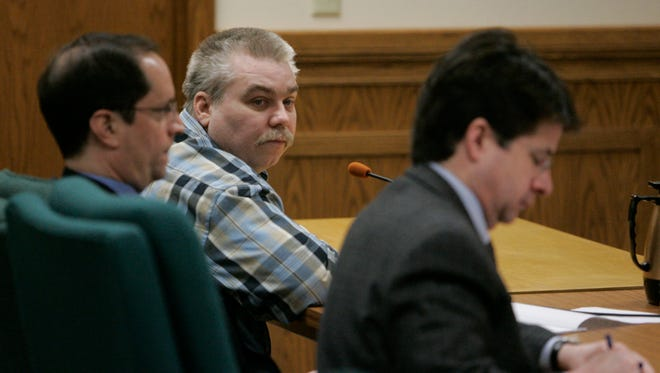 Steven Avery listens to a court session on March 16, 2007 at the Calumet County Courthouse in Chilton.