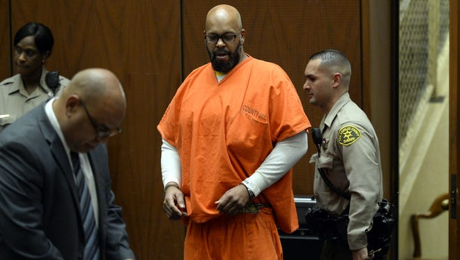"""Marion """"Suge"""" Knight in court on April 30 in Los Angeles. A judge has set July trial date on murder charges against him."""
