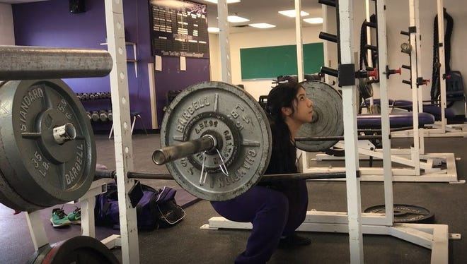 Irion County's Natali Dominguez will compete Saturday, March 17, at the Texas High School Woman's Powerlifting Association state championships in Waco.