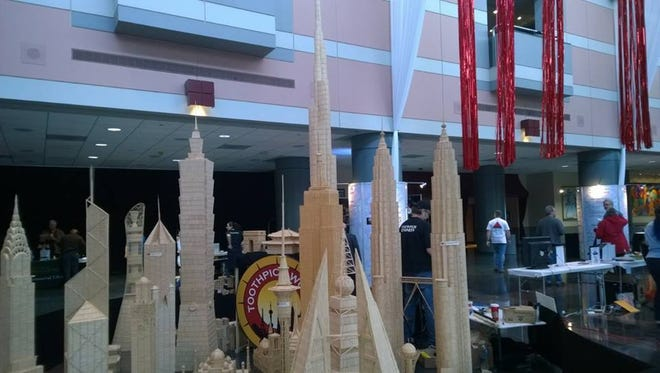 Provided Toothpick sculpture at the 2014 Rochester Mini Maker Faire. Toothpick sculpture at the 2014 Rochester Mini Maker Faire.