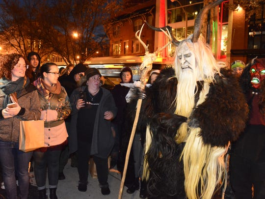 Krampus, pictured on Asbury Park's Cookman Avenue in 2016, will be back in town this weekend.