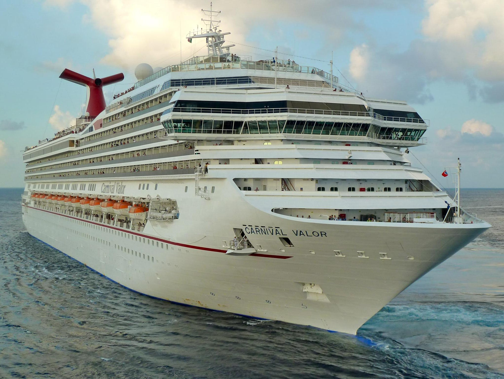 Carnival Cruise Line's 110,000-gross-ton, 2,974-passenger Carnival Valor is the third of five ships in Carnival's Conquest Class platform that also includes the Carnival Conquest, Carnival Glory, Carnival Freedom and Carnival Liberty.