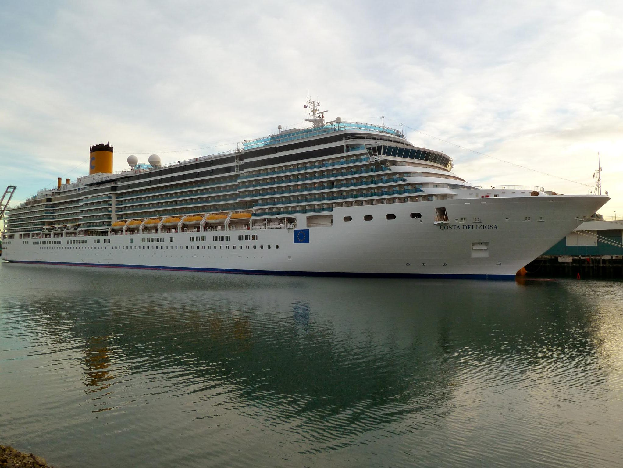 Costa Cruises is the European mass market or 'contemporary' equivalent to Carnival Cruise Lines but its $450 million, 92,600-gross-ton flagships Costa Deliziosa and Costa Luminosa, are considered slightly more upmarket, if not 'premium' category vessels.