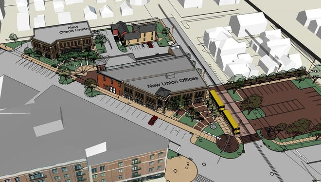 The Indianapolis Historic Preservation Commission rejected parts of this proposal from the firefighters union to redevelop a few blocks along Mass Ave. Commissioners said they couldn't support a proposed parking lot.