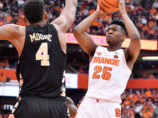 Sophomore guard Tyus Battle leads the Orange in scoring at 19.9 points per game, good for third in the ACC.