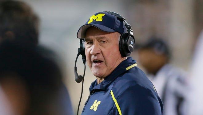 Michigan defensive line coach Greg Mattison.
