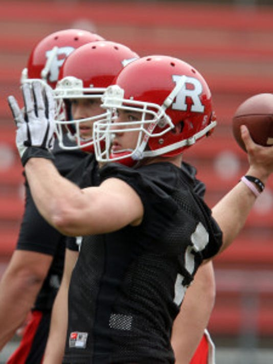 Chris Laviano completed 15 of 21 passes for 210 yards with four touchdowns at the end of the week he was named Rutgers No. 2 quarterback. (Mark Sullivan/MyCentralJersey.com)