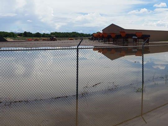 The Village of Hatch is still soggy on Monday, July