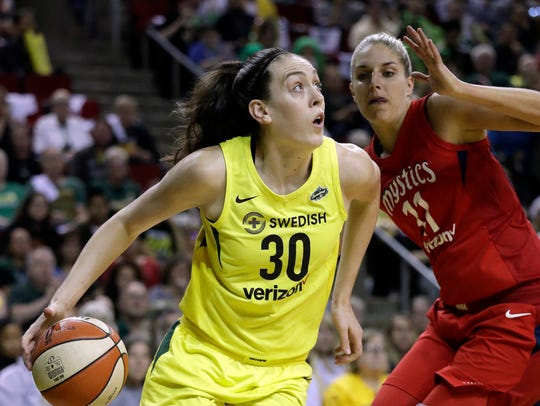 Breanna Stewart led the Seattle Storm to the 2018 WNBA championship and was named the league's Most Valuable Player.