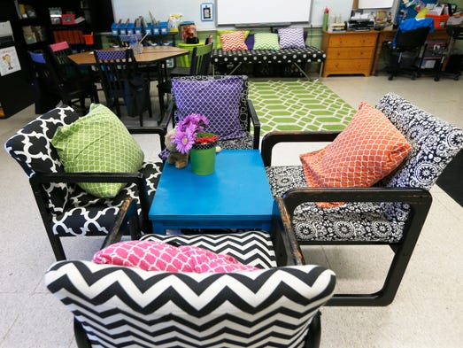 Innovative Classroom Seating ~ Sps teachers rethink redesign older classrooms