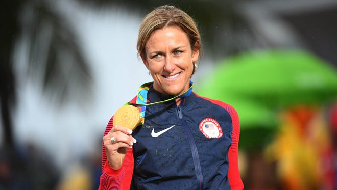 Kristin Armstrong, three-time Olympic gold medalist road cyclist