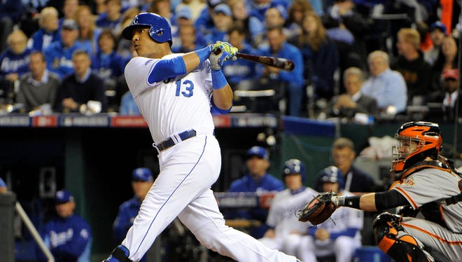 Salvador Perez is batting .353 in the World Series.
