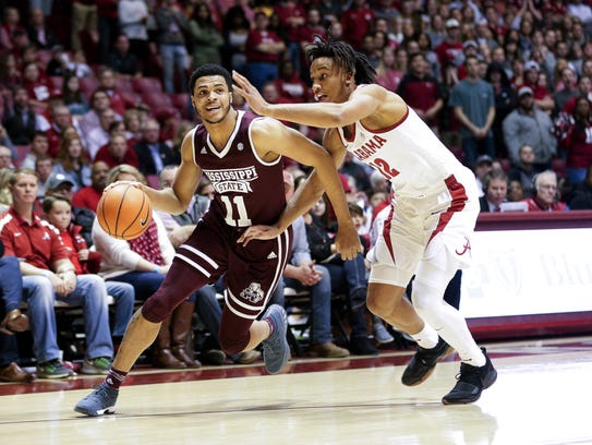 Mississippi State Bulldogs guard Quinndary Weatherspoon