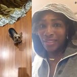 Serena Williams ate her dog's food and Snapchatted