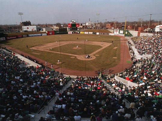 The first pitch ever thrown at then Oldsmobile Park was by Michigan State pitcher Brian Murphy on April 3, 1996, in an exhibition between the Spartans and Lugnuts.