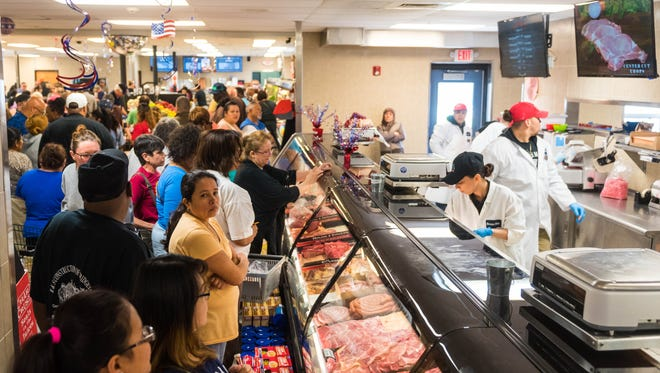 Marcacci Meats was packed in their new location on Delsea Drive on Wednesday, May 24.