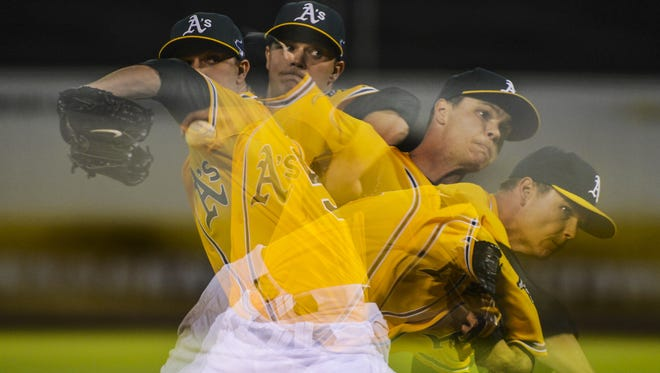 A's pitcher Sonny Gray mesmerized the Detroit Tigers in Game 2 of the AL Division Series last year, throwing eight shutout innings in a game Oakland won 1-0.