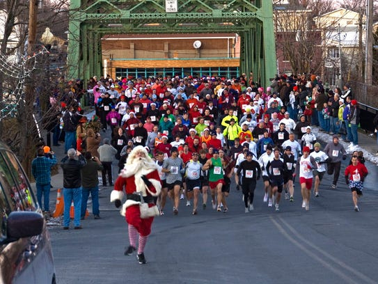 The annual It's a Wonderful Life Fun Run usually takes place at 5 p.m. Saturday the weekend of the festival.