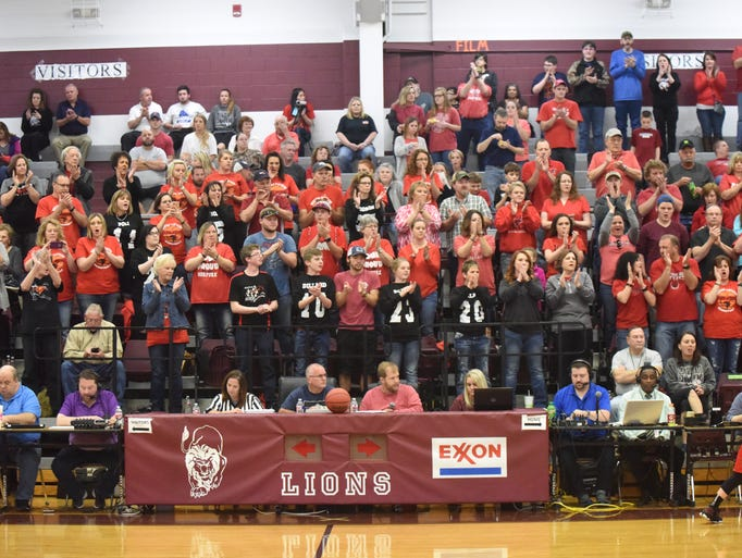 Norfork fans cheer during starting lineups.