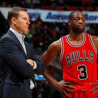 Dwyane Wade, right, came to the defense of coach Fred