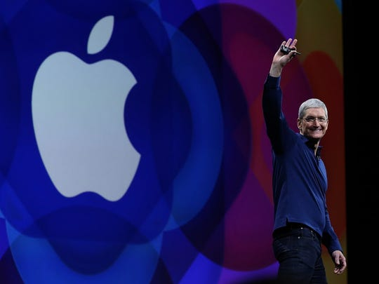 SAN FRANCISCO, CA - JUNE 08:  Apple CEO Tim Cook delivers