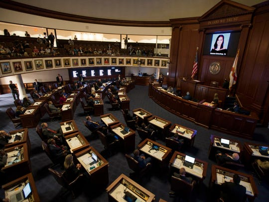 The Florida Senate chamber in Tallahassee.