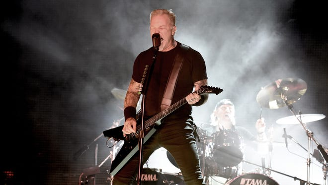 James Hetfield and Lars Ulrich will perform with Metallica March 11, 2019, at Bankers Life Fieldhouse.
