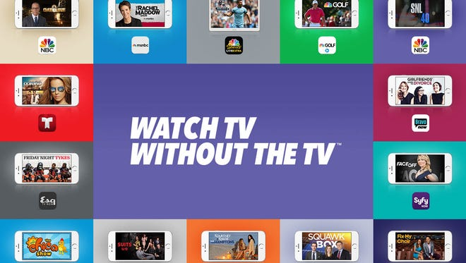 An image from NBCUniversal's TV Everywhere campaign shows the various networks and programming available on mobile devices.