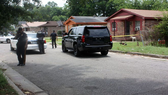 The Meridian Police Department investigates a shooting Wednesday morning .