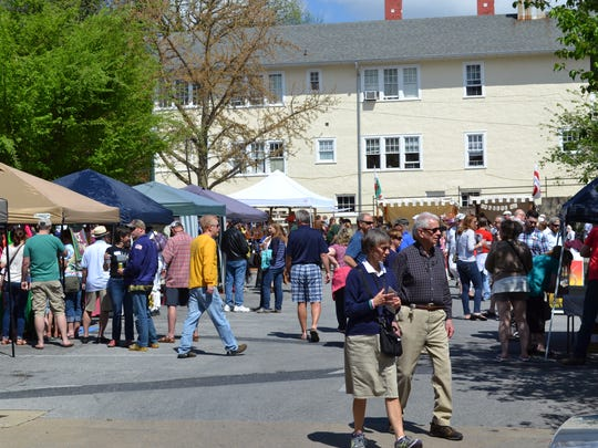 Hundreds attend Shakespeare's Block Party in downtown Staunton Saturday.