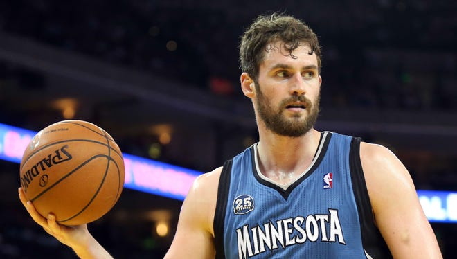 Minnesota Timberwolves forward Kevin Love averaged 26.1 points and 12.5 rebounds per game last season.