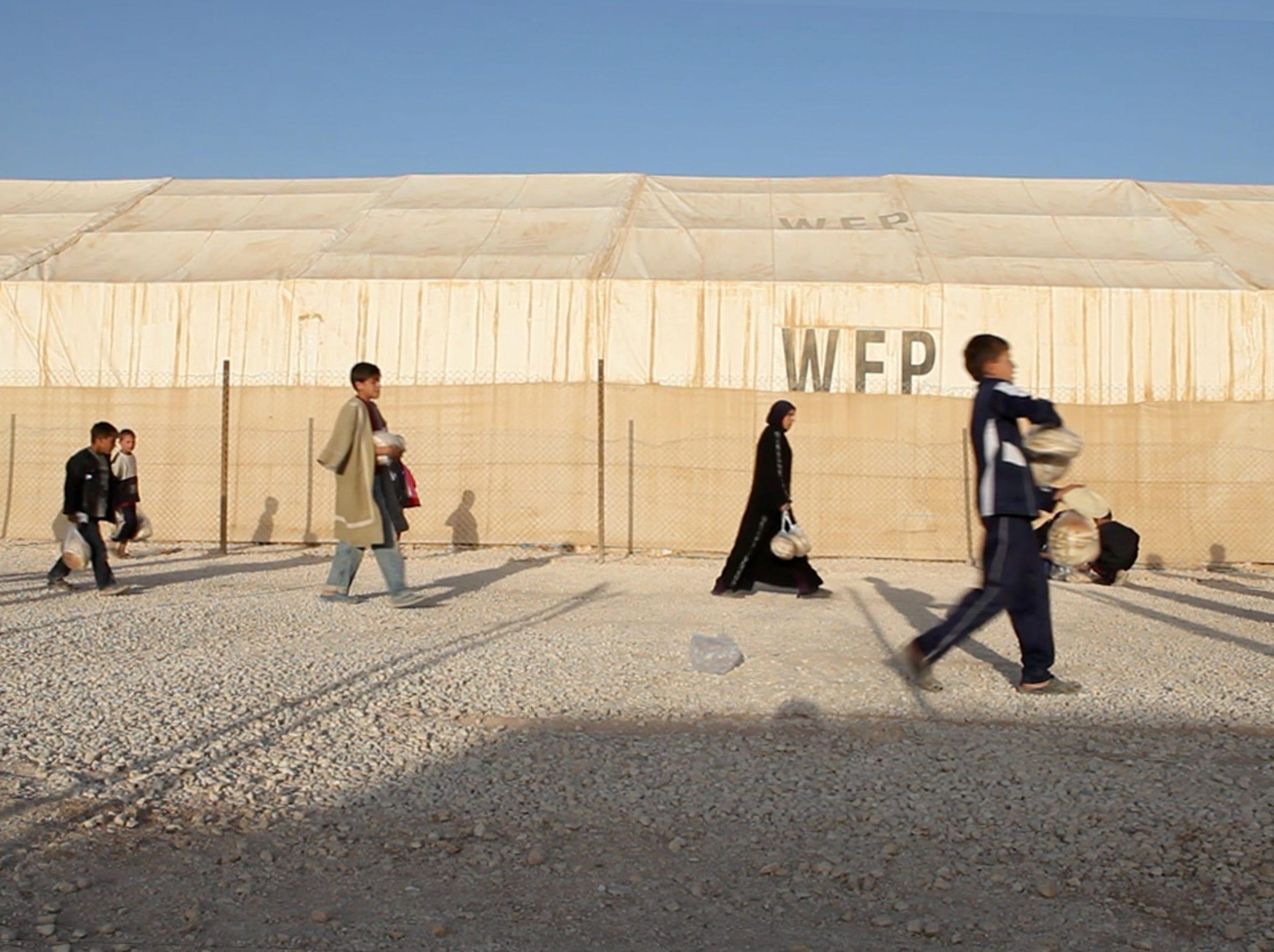 Zaatari refugee camp in Jordan.